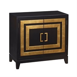 Pemberly Row Modern Door Chest in Black