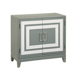 Pemberly Row Modern Door Chest in Gray