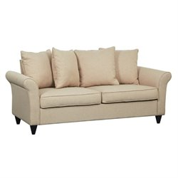 Pemberly Row Upholstered Loveseat in Beige