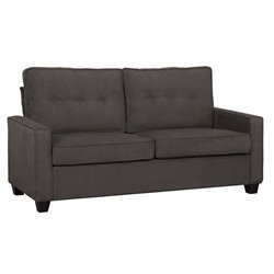 Pemberly Row Upholstered Loveseat in Slate