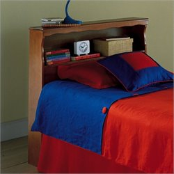 Pemberly Row Twin Wood Bookcase Headboard in Maple