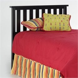 Pemberly Row Full Queen Wood Headboard in Black