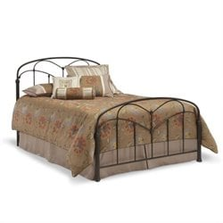 Pemberly Row Queen Metal Bed in Hazelnut