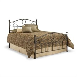 Pemberly Row Queen Metal Poster Bed in French Roast
