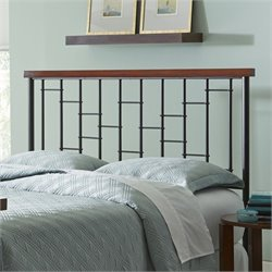 Pemberly Row Full Metal Headboard in Cherry