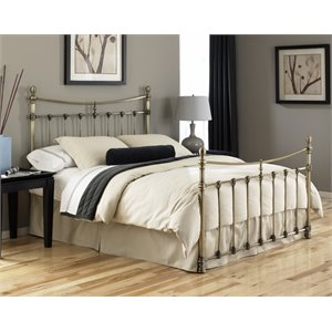 Pemberly Row Bed in Antique Brass