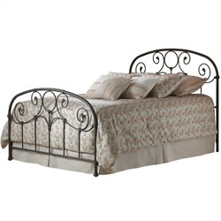 Pemberly Row Metal Bed in Rusty Gold