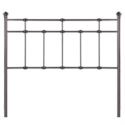 Pemberly Row Queen Spindle Headboard in Brown
