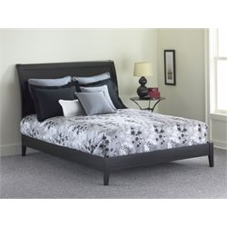 Pemberly Row California King Modern Platform Bed in Black