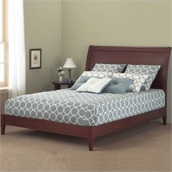 Pemberly Row Full Modern Platform Bed in Mahogany