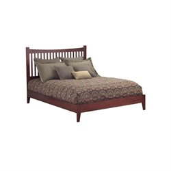 Pemberly Row Queen Modern Platform Bed in Mahogany