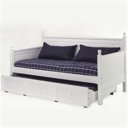 Pemberly Row Wood Daybed in White