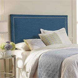 Pemberly Row Twin Upholstered Headboard in Peacock