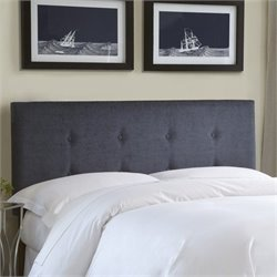 Pemberly Row Full Queen Upholstered Headboard in Gray