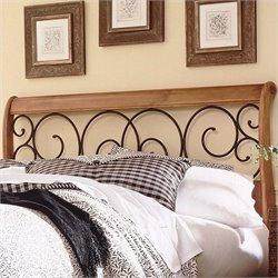 Pemberly Row Full Spindle Headboard in Oak