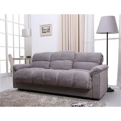 Pemberly Row Storage Convertible Sofa in Gray