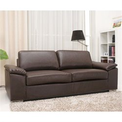 Pemberly Row Leather Sofa in Coffee