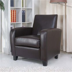 Pemberly Row Faux Leather Arm Chair-MER-823