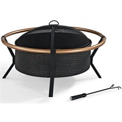 Pemberly Row Copper Ring Firepit in Black