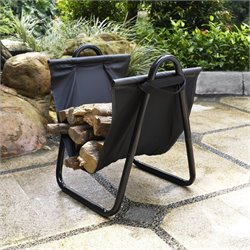Pemberly Row Firewood Storage Carrier in Black