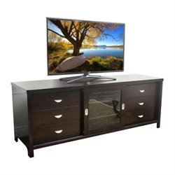 Pemberly Row 72-inch TV Console in Espresso