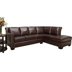 Pemberly Row Leather Sectional (without the Ottoman)