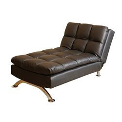 Pemberly Row Leather Lounger in Black