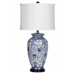 Pemberly Row Hand Painted Table Lamp in Blue