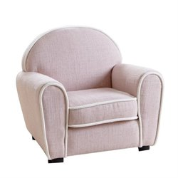 Pemberly Row Kids Sophie Fabric Baby Armchair in Pink
