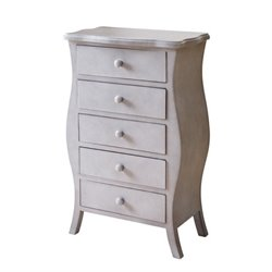 Pemberly Row 5 Drawer Chest in Gray