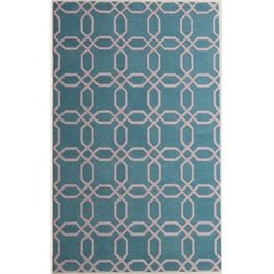 Pemberly Row 3' x 5' New Zealand Wool Rug in Light Turquoise