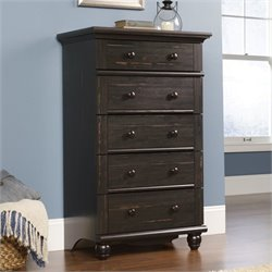 Pemberly Row 5 Drawer Chest in Antiqued Paint
