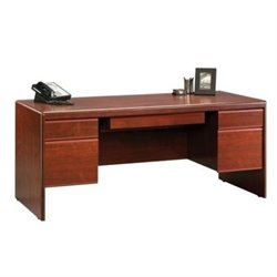 Pemberly Row Executive Desk in Classic Cherry