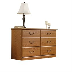 Pemberly Row 6 Drawer Dresser in Carolina Oak