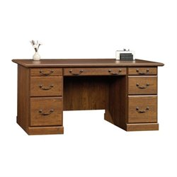 Pemberly Row Executive Desk in Milled Cherry