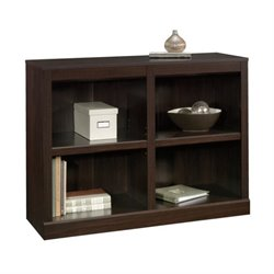 Pemberly Row 2 Shelf Bookcase in Jamocha Wood