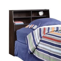Pemberly Row Twin Bookcase Headboard in Cherry