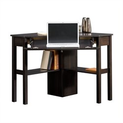 Pemberly Row Corner Computer Desk in Cinnamon Cherry