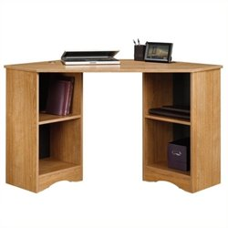Pemberly Row Corner Computer Desk in Highland Oak