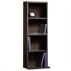 Pemberly Row 3 Shelf Multimedia Storage Tower in Cinnamon Cherry