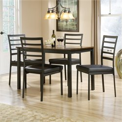 Pemberly Row 5 Piece Dining Set in Black