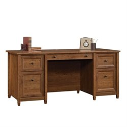 Pemberly Row Executive Desk in Auburn Cherry