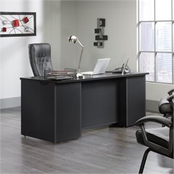 Pemberly Row Executive Desk in Bourbon Oak