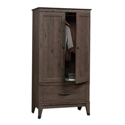 Pemberly Row Armoire in Coffee Oak