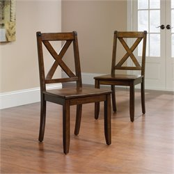 Pemberly Row Dining Chair in Mahogany (Set of 2)