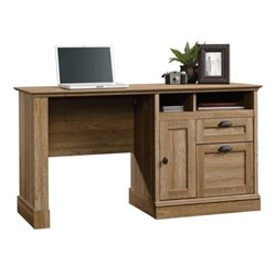 Pemberly Row Computer Desk in Scribed Oak