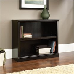 Pemberly Row 2 Shelf Bookcase in Estate Black