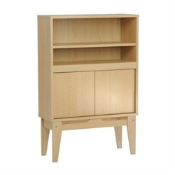 Pemberly Row 2 Shelf Bookcase in Urban Ash
