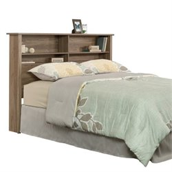 Pemberly Row Queen Bookcase Headboard in Salt Oak