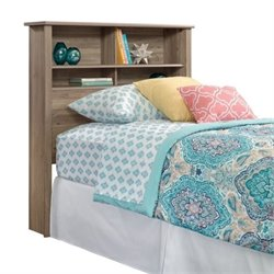Pemberly Row Twin Bookcase Headboard in Salt Oak